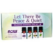 [iHerb] Now Foods, Let There Be Peace & Quiet, Relaxing Essential Oils Kit, 4 Bottles, 1/3 fl oz (10 ml) Each