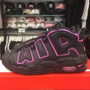 女鞋 BEETLE NIKE AIR MORE UPTEMPO 大AIR 黑粉 415082-003 23.5 25CM