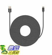 [美國直購] Mission Cables MC4B 連接線 黑色 20ft USB Power Cable for Nest Cam , 20 FT
