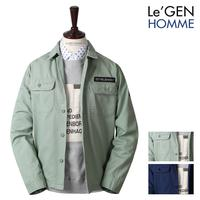 Genuine twin Button Pocket English Patch Cotton Jacket (LNJK679SB)
