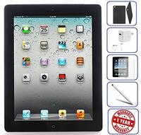 Apple iPad 2 Tablet 16GB 32GB 64GB - Wifi Black 2nd Generation | Bundle Includes: Case Temper...
