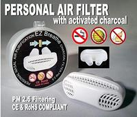 (EZ Breathe) Personal Air Filter Nose Nasal Purifier with Activated Charcoal-