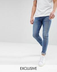 Noak Super Skinny Jeans In Dark Wash Blue