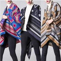 [New Products Fall CK072] Muffler Scarf Shawl Cashmere Material Poncho Cape (Space Engineering)
