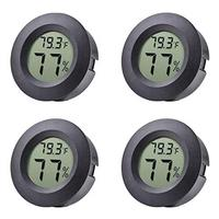Veanic 4-pack Mini Hygrometer Thermometer Fahrenheit or Celsius Meter Digital LCD Monitor Indoor...