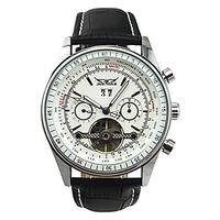 (GuTe Mechanical) GuTe Classic Designed Men Automatic Mechanical Wrist Watch Day Date Month White...