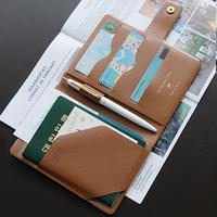 [Made in Korea] RFID Blocking PU Leather Passport Holder Organizer