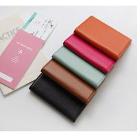 Genuine Cow Leather RFID Blocking No-Skimming Passport Holder Cover