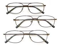 (Foster Grant) (3 PACK + BONUS) Magnivision 3.00 BI-FOCALS AVIATOR Style Clear Reading Glasses wi...
