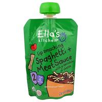 [iHerb] Ella's Kitchen Lip Smacking Spaghetti + Meat Sauce with a Sprinkle of Cheese, Stage 2, 4.5 oz (127 g)