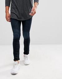 Pull&Bear Super Skinny Jeans In Dark Wash