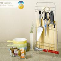 Chopping board Holder★Kitchen Tool Hook+Cutting board Rack★Kitchen Storage Cleanup/Stainless