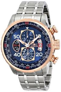 (Invicta) Invicta Men s 17203 AVIATOR Stainless Steel and 18k Rose Gold Ion-Plated Watch-17203 (2...