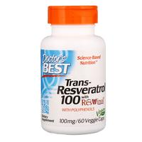 [iHerb] Doctor's Best Trans-Resveratrol with Resvinol, 100 mg, 60 Veggie Caps