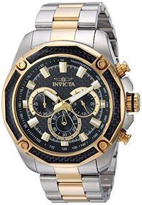 Invicta Men s Aviator Quartz Watch with Stainless-Steel Strap Two Tone 24 (Model: 22806)