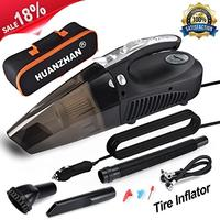 (HUANZHAN) Car Vacuum Cleaner H-Zonealph 4 in 1 Wet/Dry Handheld Auto Vacuum 106W DC 12v Ligh...