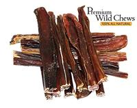 (Premium Wild Chews) 6 Steer Sticks 15 Pack.- Made in the USA - All Natural - Junior Bully Sticks-