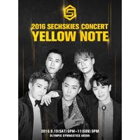 Music 2016 SECHSKIES CONCERT [YELLOW NOTE] LIVE BLU-RAY FULL PACKAGE 3DISC+POSTER+e
