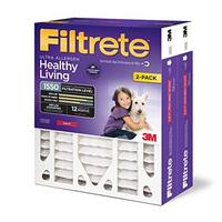 Filtrete 16x25x4 AC Furnace Air Filter MPR 1550 DP Healthy Living Ultra Allergen Deep Pleat 2...