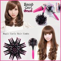 【Free Shipping / Reliable Delivery】 Technique No 360 ° Catch your hair from anywhere! Speedy 3D hair ☆ 3D Styling Curl Brush / Clumsy Sun OK !! Fluffy Hair Comes Bomu Curl Brush / Hair