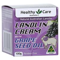 [USA Shipping] Healthy Care Lanolin Cream with Grape Seed Oil 100g (Made in Australia)