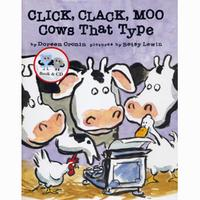 【廖彩杏有聲書單】CLICK CLACK MOO COWS THAT TYPE/平裝本+CD