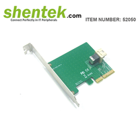 《Shentek》 52050 1 Port U.2(SFF-8643) Up To 30Gbps To PCIe Adapter PCI Express Card