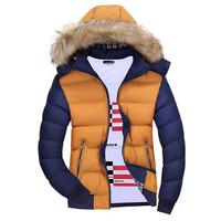 Men's winter warmth hooded cotton padded jacket casual coats