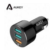 AUKEY 3孔 42W QC3.0 車用充電器 附USB-A to C Cable(CC-T11)