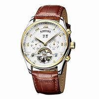 (KINYUED) KINYUED J009 Men's Multifunctional Automatic Mechanics Wrist Watch with Italy Genuine L...