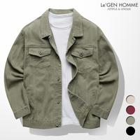 LEGEN Twin pocket vintage Loose Fit cotton jacket(LNJK987SB)