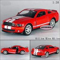 (New) Kinsmart 1:38 1/38 2007 MUSTANG Ford Shelby GT500 Sports car Diecast model Red-