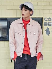 8 SECONDS [8 X GD`s Pick] Cotton Twilled Color Trucker Jacket - Pink