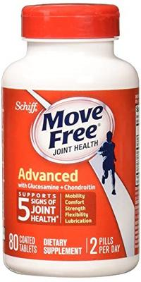 [USA Shipping] Move Free Triple Strength Glucosamine Chondroitin and Hyaluronic Acid Joint Supplemen