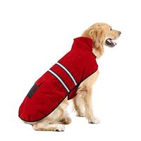 (NACOCO) NACOCO Dog Coat Cold Weather Coats Pet Reflective Cotton Jacket for Winter Cotton-