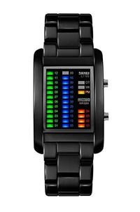 [iroiro] R-timer waterproof watch Men's led watch wristwatch digital display led light with alloy belt waterproof watch wrist watch binary design Father's Day wristwatch gift gift