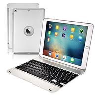 (Philont) Philont Aluminum Bluetooth Keyboard Case for New iPad 9.7 inch (NOT for iPad Pro 9.7) 7...