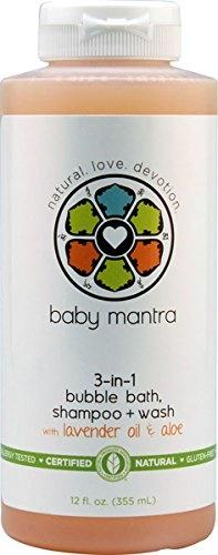 (Baby Mantra) Baby Mantra 3 In1 Bubble Bath Shampoo 12 oz-856357003085
