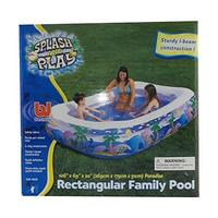 (Bestway) Bestway Splash And Play Paradise Rectangular Family Pool 106 x 69 x 20 For Kids Age 6+-