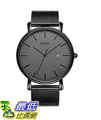 [8美國直購] 手錶 BUREI Men''s Fashion Minimalist Wrist Watch Analog Date with Stainless Steel Mesh Band B06ZYXZNXY