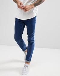River Island Skinny Jeans In Dark Wash Blue