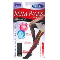 K239 Japan SLIMWALK 9~18 hPa Compression Shaping Fashion Checker Pantyhose