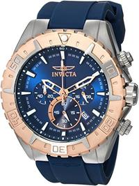 Invicta Men s Aviator Quartz Stainless Steel and Silicone Casual Watch Color:Blue (Model: 22523)