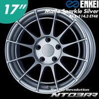 【Power Parts】ENKEI NT03RR 鋁圈 17吋 8J 5x114.3 ET48 MSS 消光銀