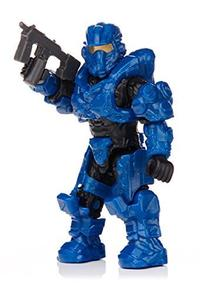 Mega Bloks Halo Foxtrot Series Blue Aviator Spartan Mini Figure-Opened to Identify