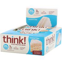 [iHerb] ThinkThin High Protein Bars, Coconut Cake, 10 Bars, 2.1 oz (60 g) Each