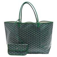 【GOYARD】St. Louis GM 防水帆布LOGO購物包(大-綠色AMALOUIS-GM57-GREEN)