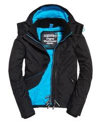 Superdry 極度乾燥 Pop Zip Hood Arctic Windcheater 連帽 風衣外套 女(黑/藍)