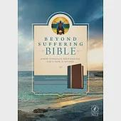 Beyond Suffering Bible: New Living Translation, Where Struggles Seem Endless, God's Hope Is Infinite, Teal, Brown & Rose Gold Ed