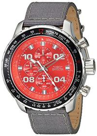 Invicta Men s Aviator Quartz Stainless Steel and Nylon Casual Watch Color:Grey (Model: 18780)
